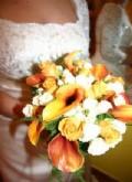 Orange och vit
